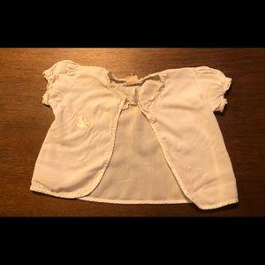 Vintage handmade baby girls sweater.